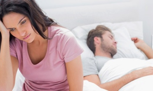 Maybe Mom Stressed Woman and Sleeping Man